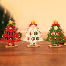 discount mini wooden tree decorations 2017 mini wooden