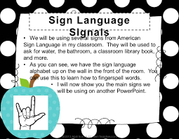 Bathroom Sign Language For A Safe Organized And Productive Learning Environment