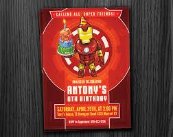 ironman invitation birthday printable download
