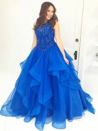 simple quinceanera dresses buy gown neck royal blue tulle quinceanera dress with