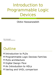 introduction to programmable logic devices hardware description