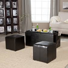 black leather storage cube large leather ottoman with storage
