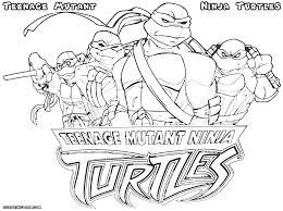 ninja turtle coloring pages teenage mutant in pictures of teenage