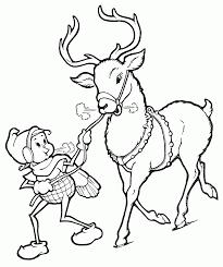 printable cartoon reindeer christmas coloring pages kids coloring
