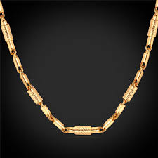 diy men necklace images Link bar gold chains necklaces for men women jewelry vintage 2mm jpg