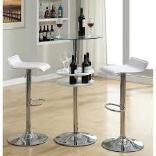 white pub table set white bar table set w wine storage coaster furniture furniturepick