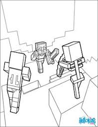 minecraft coloring coloring picture steve skeleton