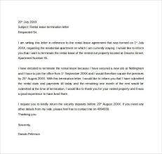 lease termination letter format lease termination letter