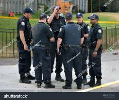 torontojuly 17 group police officers crime stock photo 107853239