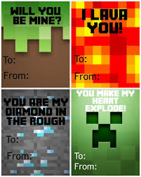 minecraft cards free printable minecraft s day cards not quite susie
