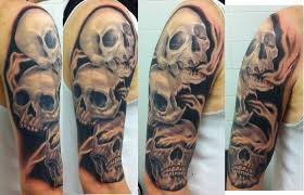 grey ink see no hear no speak no evil skull tattoos in 2017 real