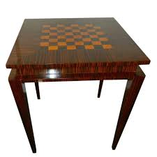 art deco game table macassar wood small tables art deco collection