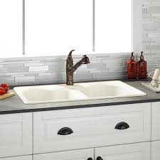 bisque kitchen faucets 32 berwick bisque bowl cast iron drop in kitchen sink