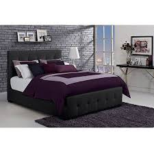 florence full tufted faux leather upholstered bed with headboard