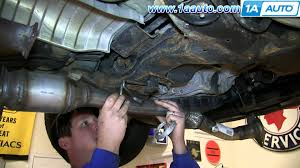 how to install replace front flex pipe catalytic converter 2 5l