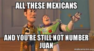 All These Meme - all these mexicans and you re still not number juan buzz and
