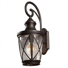 Outside Garage Lighting Ideas by Shop Allen Roth Castine 20 2 8 In Rubbed Bronze Outdoor Wall