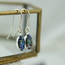turquoise opal earrings black fire opal earrings by penny masquerade notonthehighstreet com