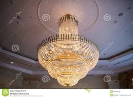 Ballroom Chandelier Luxury Chandelier Stock Image Image Of Decoration Gold 36145029
