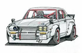 sariel pl mustang gymkhana drifting car drawing dominantni info