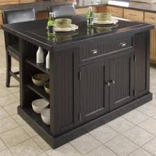 Kitchen Island With Granite Top And Breakfast Bar Foter - Granite top island kitchen table