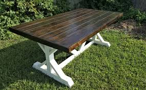 handmade dining room tables farmhouse table fancy x trestle leg handmade solid wood