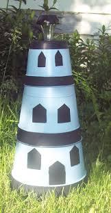 adorable solar powered lighthouse lawn ornament by kathyscraftshop