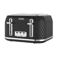 curve collection black kettle and toaster set breville vkt017