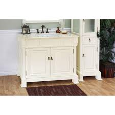 42 Inch White Bathroom Vanity by Olivia 42 Inch Cream White Wood Bathroom Vanity Overstock