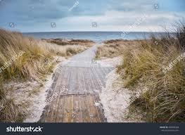 beach baltic sea cold days original stock photo 489269308
