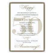 50th wedding anniversary invitations 50th wedding anniversary invitations at paperstyle