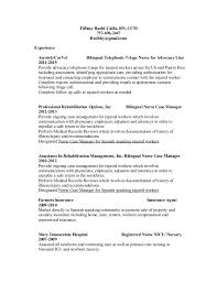 Bilingual In Resume Tiffany Ruehl Callis Resume 2015