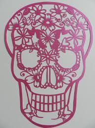pink skull paper pinterest stenciling paper cutting and