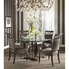 Dining Room Glass Tables Fine Furniture Design Belvedere 64 Inch Round Glass Top Dining