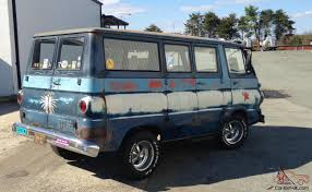 vintage surf car dodge a 100 sportsman van church surf camp jim jones ratrod