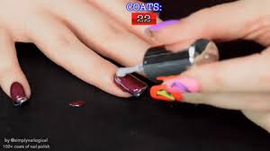 watch this vlogger paint her nails with 116 coats of polish revelist