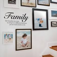 family like branches on a tree quote lettering decal wall decal