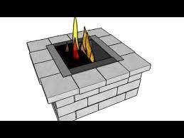 Square Fire Pit Kit by Cambridge Split Face Renaissance Square Fire Pit Kit Youtube