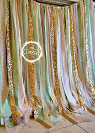 wedding backdrop garland pink mint gold sparkle sequin fabric backdrop with lace wedding
