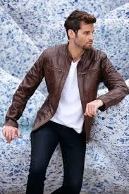 mens genuine leather jackets cm02br model 1