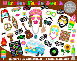 printable hippie photo booth props printable hippies photo booth propshippies props 70s party