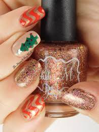christmas manicure with opi fair maiden polish and polish u0027m