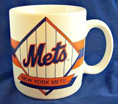 rare vintage official new york mets coffee mug cup ny baseball