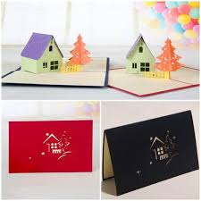 hourse u0026 tree 3d laser cut pop up paper handmade postcards custom