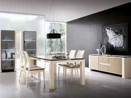 pittura sala da pranzo eccellente nera accent colore parete arredata con decorazione