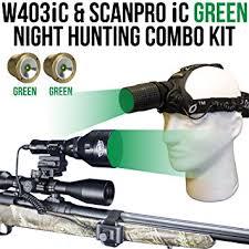 wicked hunting lights amazon amazon com wicked lights w403ic scanpro ic green night hunting
