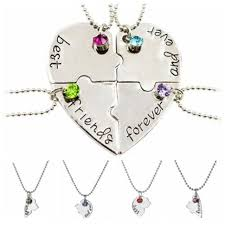 friendship heart necklace images Hot puzzle love heart friendship necklace best friends forever and jpg