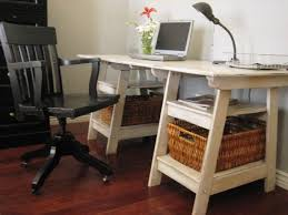Ikea Sawhorse Desk Furniture Fascinating Sawhorse Desk Very Suite For Your Classic