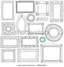 hand drawn picture frame stock images royalty free images