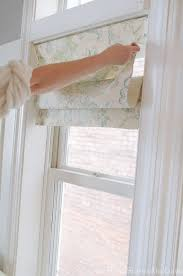Mock Roman Shade Valance - how to make faux roman shades